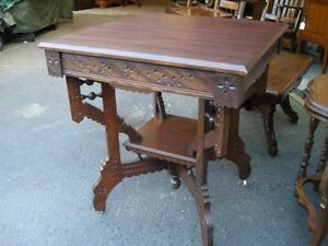 antique square parlour table eastlake style REDUCED Oakville / Halton Region Toronto (GTA) image 3