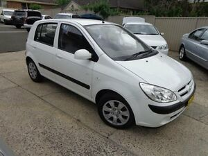 2007 Hyundai Getz TB Upgrade 1.6 White 4 Speed Automatic Hatchback Sylvania Sutherland Area Preview