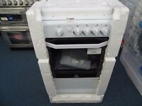 EX DISPLAY WHITE ALL GAS INDESIT SINGLE OVEN W/4 BURNER HOB REF: 11466