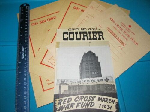 WWII Quincy Mass Red Cross Ephemera War Fund