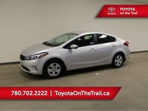 2018 Kia Forte LX; UNDER 1,000 KM, 6 SPEED MANUAL, A/C, BLUETOOT