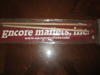 "NEW Encore 400B Symphonic Series 1 1/8"" Poly Warm Birch Mallets."