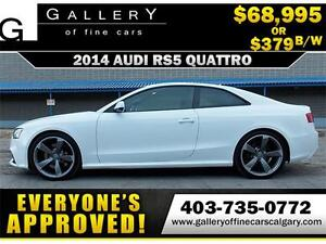 2014 Audi RS5 4.2 V8 S-TRONIC $379 bi-weekly APPLY NOW DRIVE NOW