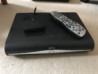 Sky + HD box with Sky remote, Sky mini wireless connector and power cable