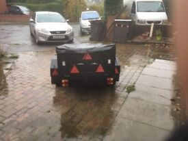 Car Trailer 5x3 complete with heavy duty cover
