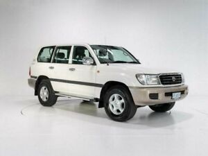 2002 Toyota Landcruiser HDJ100R GXL (4x4) White 5 Speed Automatic Wagon Cooee Burnie Area Preview