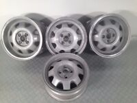 "ATS CUP 4X100, 15"" staggered set two 5.5J and two 7J. Deep dish alloy wheels"