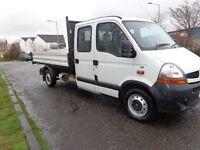 2007(57reg) Renault Master Crew Cab TIPPER TRUCK 7 Seater £3595