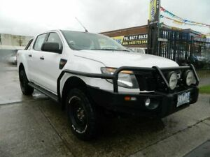 2012 Ford Ranger PX XL 2.2 (4x4) White 6 Speed Automatic Crew Cab Utility Williamstown North Hobsons Bay Area Preview