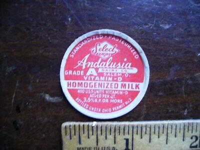 ANDALUSIA DAIRY SALEM OH VINTAGE LITTLE MILK BOTTLE CAP LOT AB-16