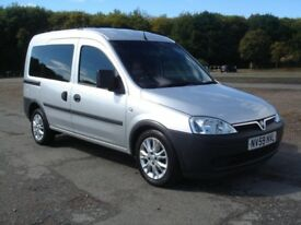 VAUXHALL COMBO TOUR ESSENTIA WHEELCHAIR ACCESS,2010 (59),SILVER,41,000 MILES,FULL S/HISTORY.