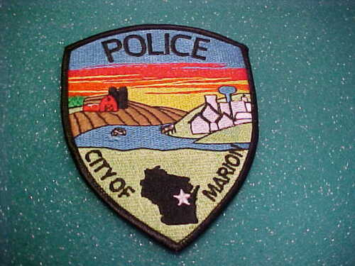 MARION WISCONSIN POLICE PATCH SHOULDER SIZE UNUSED TYPE 2