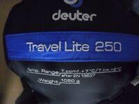 Sleeping bag travel lite 250 mint condition