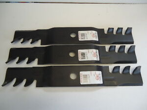 Set of 3 Mulching Blades For M127500 M127673 M145476 MADE IN USA