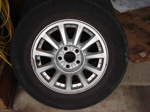 Tires with rims P215/70R15