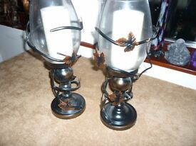 Copper effect cadle Lamps.