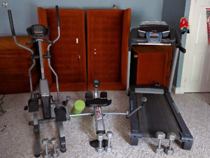 Treadmill, Elliptical Trainor, Rowing Simulator, More