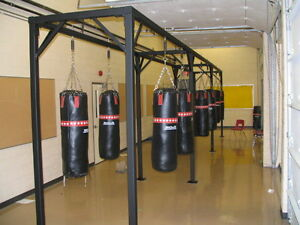 punching bag rack for gym