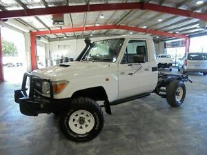 2010 Toyota Landcruiser VDJ79R MY10 Workmate White 5 Speed Manual Cab Chassis Welshpool Canning Area Preview