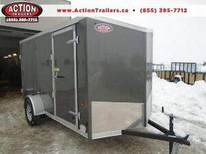 6x12 CARGO TRAILER W/ WEDGE NOSE - LOW PRICING!!
