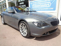 BMW 650 4.8 auto 2007 i Sport Convertible F/S/H sat Nav PX