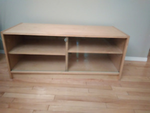 Maple entertainment center, TV stand, Stereo stand