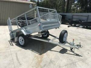 7x5 HEAVY DUTY GALVANISED SINGLE AXLE | 2ft GALVANISED CAGE | Cairns Cairns City Preview