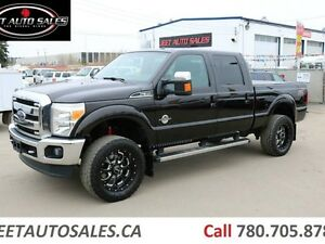 2014 Ford F-350 Fully Loaded Lariat 4x4 Crew Cab Lifted Diesel