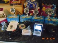 4 wireless cctv cameras and a handheld monitor/receiver