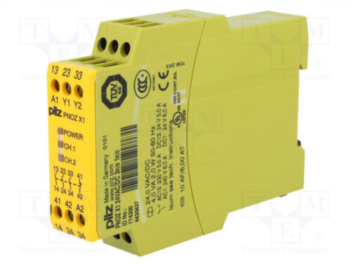 Pilz PNOZX1 24VAC/DC Safety Relay 774300 3-NO 1-NC