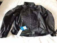 Spada Leather/Textile Motorbike Jacket, Black, Size 3XL, BNWT