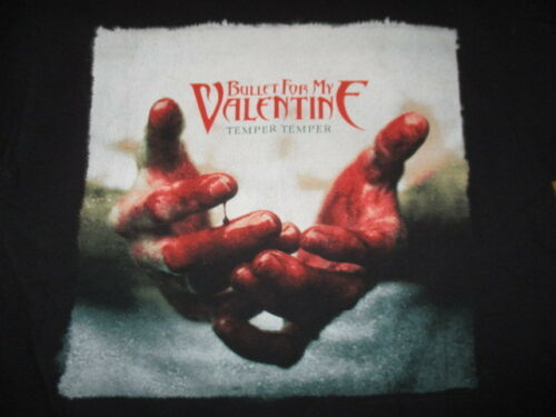 "2013 BULLET FOR MY VALENTINE ""Temper Temper"" Concert Tour (LG) T-Shirt"