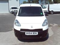 Peugeot Partner L1 850 S 1.6HDI 92PS (SLD) EURO 5 DIESEL MANUAL WHITE (2014)