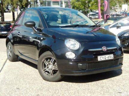 2014 Fiat 500 MY14 POP Black 5 Speed Manual Hatchback