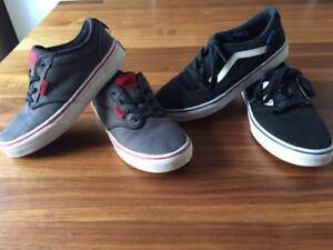 Chaussures Vans grises pour enfant grandeur 3