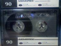 MEMOREX DBX 90 (1995-1996) PREMIUM CASSETTE TAPES.