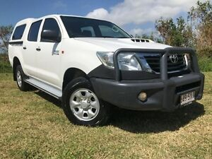 2013 Toyota Hilux KUN26R MY12 SR Double Cab White 5 Speed Manual Utility Mackay Mackay City Preview