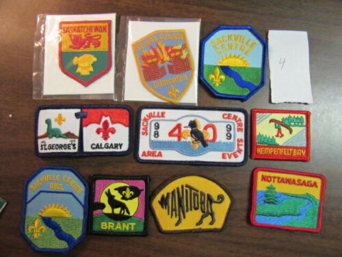 Canada Lot of 10 Different Patches    eb03  #4