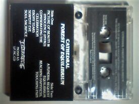 CATHEDRAL - FOREST OF EQUILIBRIUM PRERECORDED CASSETTE TAPES. MOSH43MC. 1991. Promotional copy. Rare