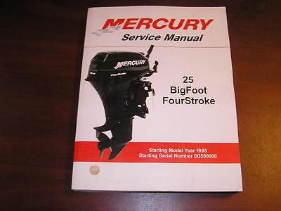 Factory mercury outboard motor service manual 25 Bigfoot forstroke 90-854785R2