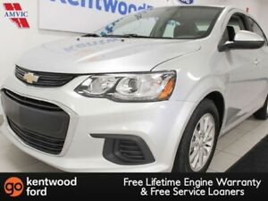 2018 Chevrolet Sonic LT with heated seats and a metallic silver