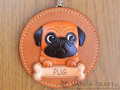 Pug Leather Wall Decor/Decoration *VANCA* Made in Japan #26622