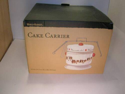 MIB WORLD MARKET WHOOO WANTS CAKE OWL ALUMINUM  CAKE CARRIER