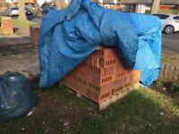 Ibstock 65mm Facing -Alder Burgundy (400+ bricks- unused). Unused bricks left over from our project.