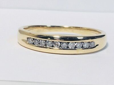 (Gents 10kt yellow gold channel set diamond wedding ring (EB-24))