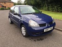 Renault Clio Campus 1.2, One Owner, One Year MOT, Low Tax & Low Insurance
