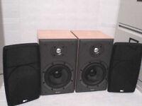 100W B&W Bowers & Wilkins Stereo Speakers