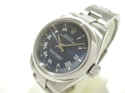 Auth ROLEX Oyster Perpetual 176200 Silver Women