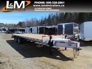 "NEW 2018 N&N GALVANIZED TAG EQUIPMENT TRAILER 102""X27' - 12 TON"