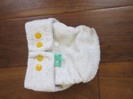 Reusable shaped nappies Bundle of 4 Adjustable with poppers from Tots Bots Used good condition